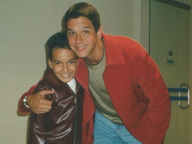 Victor Cheu Soares e Mrcio Garcia, nos bastidores de 'Gente Inocente' (Foto: Arquivo pessoal)