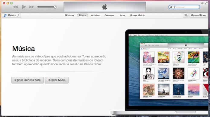 iTunes 11 não conta com barra lateral (Foto: Reprodução/Helito Bijora)