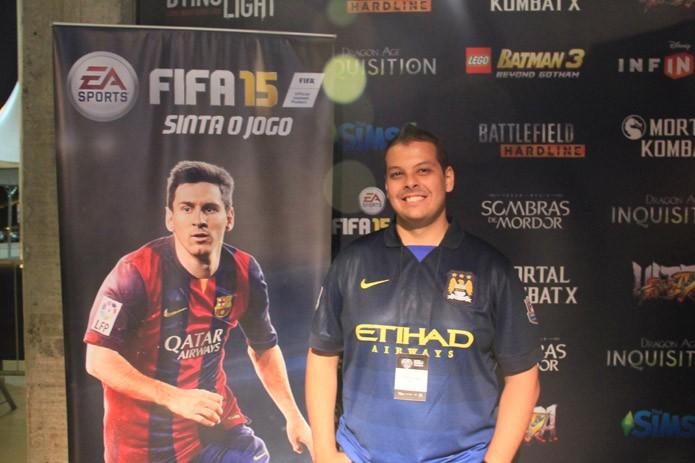 Gilliard Lopes, produtor brasileiro de FIFA15 (Foto: Renato Bazan/TechTudo) (Foto: Gilliard Lopes, produtor brasileiro de FIFA15 (Foto: Renato Bazan/TechTudo))