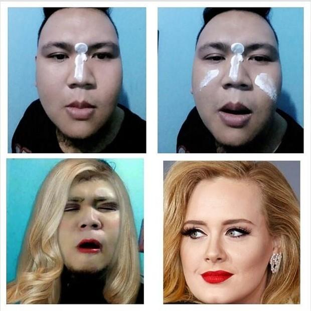 Make up transformation - Adele (Foto: Twitter/Reprodução)