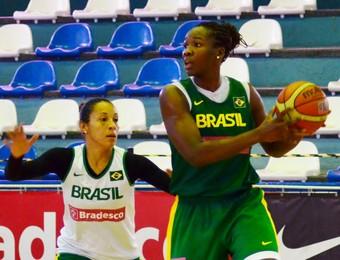Clarissa Adrianinha seleção feminina basquete treino em São José dos Campos (Foto: Danilo Sardinha/GloboEsporte.com)