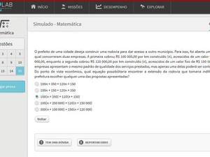 Estudante pode responder a exercícios no formato das provas do Enem (Foto: Reprodução/Geekie Games)