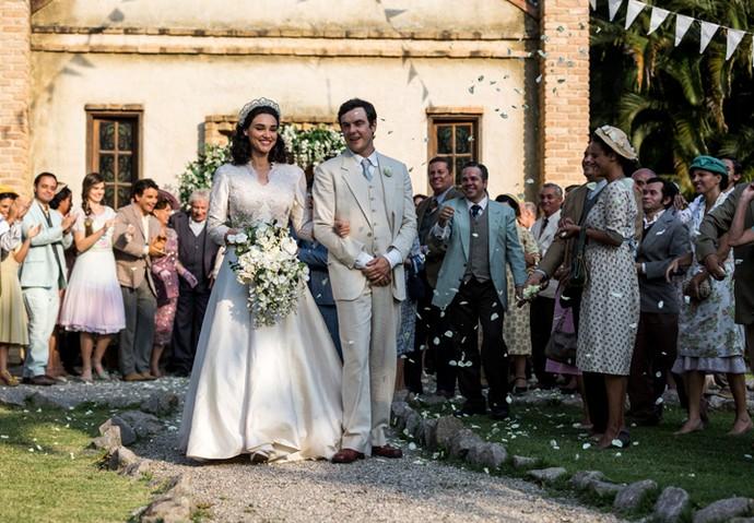 Candinho e Filomena se casam (Foto: Ellen Soares/Gshow)