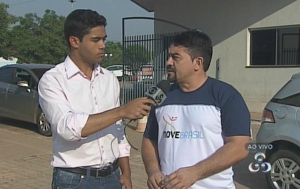 Coordenador do projeto participou ao vivo do programa (Foto: Bom Dia Amazônia)