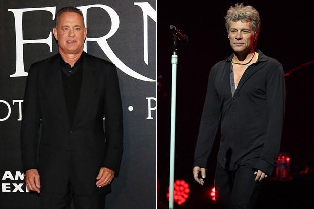 Tom Hanks e Jon Bon Jovi (Foto: AKM-GSI)