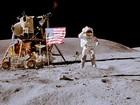 Cinco bandeiras dos EUA continuam inteiras na Lua após 40 anos