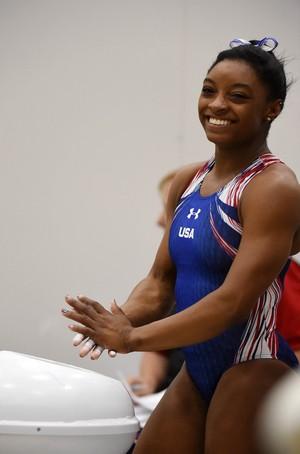 treino, Estados Unidos, ginástica artística, feminino (Foto: André Durão)