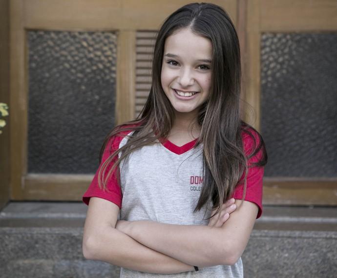 Marina, personagem de Kiria, estuda no colégio Dom Fernão (Foto: Inácio Moraes/Gshow)