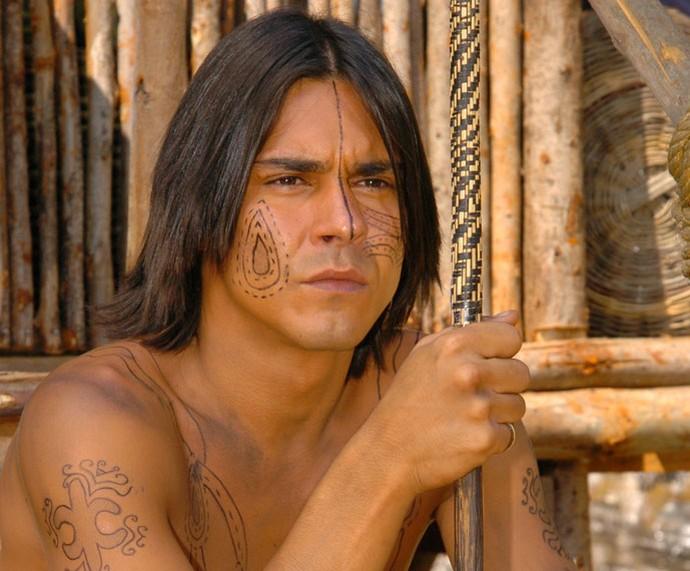 André Gonçalves foi o índio José em 'Alma Gêmea' (Foto: TV Globo/Márcio de Souza )