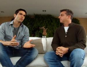 Kaká e Huck (Foto: Reprodução/TV Globo)