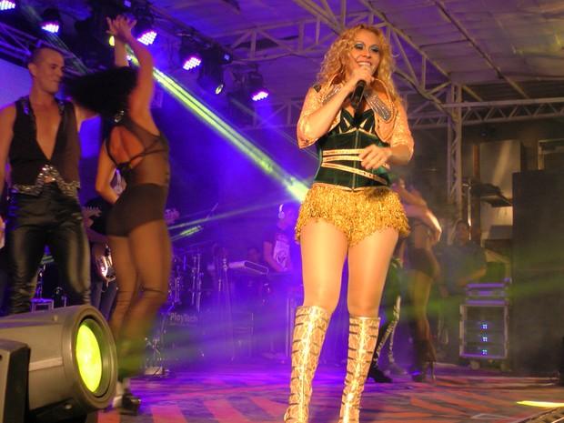 Joelma em show no Ceará (Foto: Sebastião Mota/ G1)