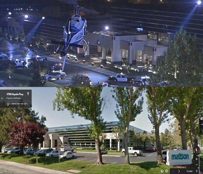 Cyberdyne Systems, empresa destruída em O Exterminador do Futuro 2, fica em Fremont (Foto: Reprodução/Juliana Pixinine)