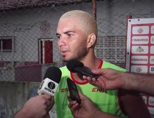 Jérson, meia do América-RN (Foto: Tiago Menezes)