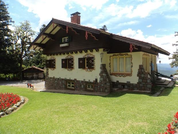 Casa do Papai Noel é inspirada no estilo bávaro (Foto: Felipe Truda/G1)