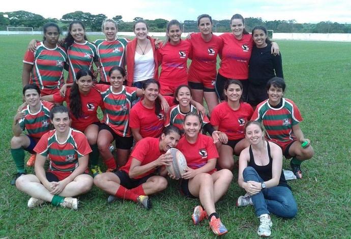 Time Uberlândia Rugby feminino  (Foto: Uberlândia Rugby / Divulgação )