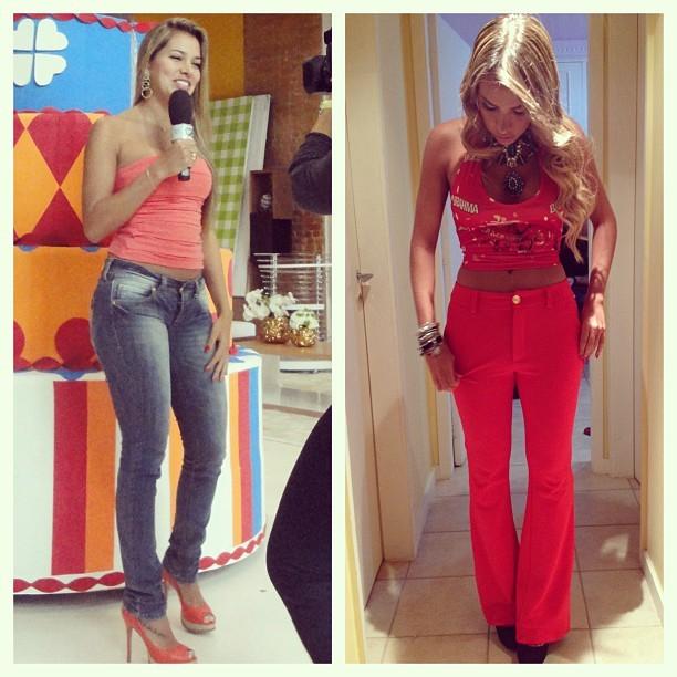 Adriana compara manequim em antes e depois (Foto: Reprodução/Instagram)