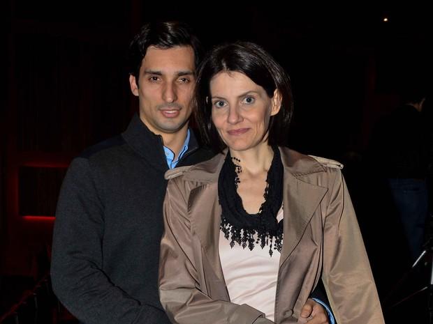 Malga Di Paula e namrorado em espetáculo em São Paulo (Foto: Caio Duran/ Ag. News)