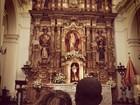 Thiaguinho e Fernanda Souza visitam igreja na Argentina: 'Para abençoar'