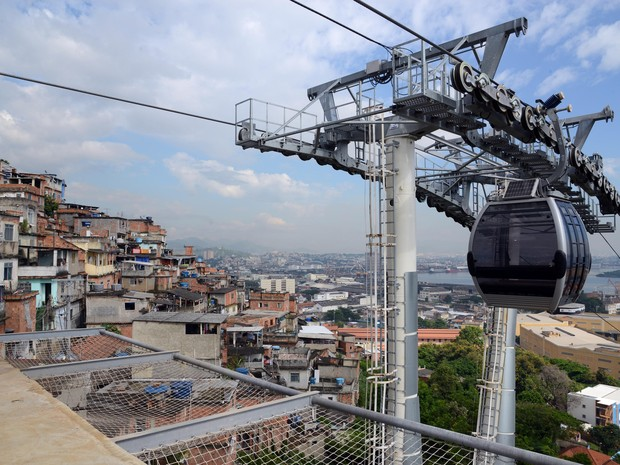 Teleférico da Providência tem primeiro teste tripulado neste sábado (6) (Foto: JP Engelbrecht/ Divulgação/ Prefeitura do Rio)