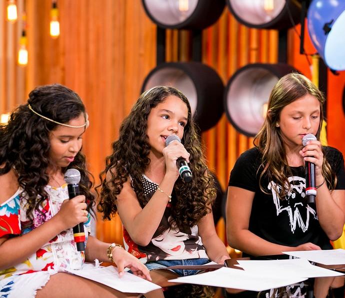 Júlia Ferreira, Jamille Silva e Laura Schadeck (Foto: Isabella Pinheiro / Gshow)