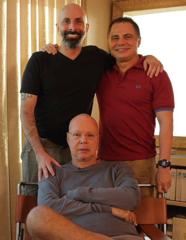 Os autores de Babilônia - João Ximenes Braga, Ricardo Linhares e Gilberto Braga (Foto: Foto: Gabriel Nascimento/Gshow)
