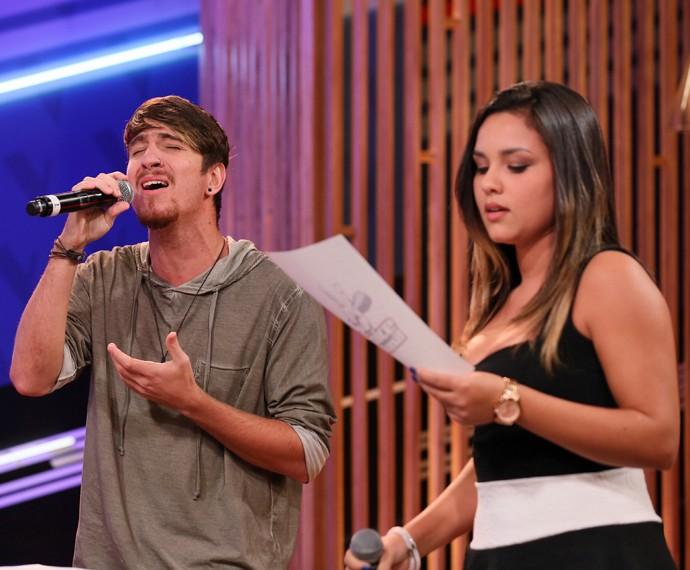 A dupla cantou Aquele 1%, de Marcos & Belutti feat Wesley Safadão (Foto: Isabella Pinheiro/Gshow)