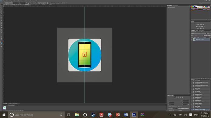 Ícones do Android devem ter recorde quadrado para funcionarem adequadamente (Foto: Reprodução/Elson de Souza)