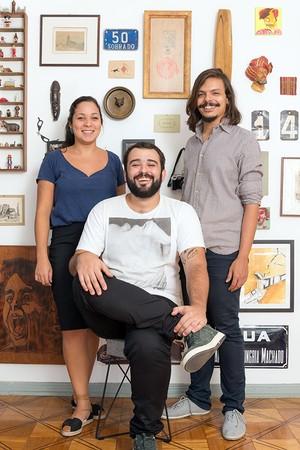 Flavia, Felipe e Fernando (Foto: Sambacini/Editora Globo)