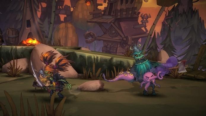 Zombie Vikings oferee multiplayer local e online para até 4 jogadores (Foto: Divulgação/Zoink)