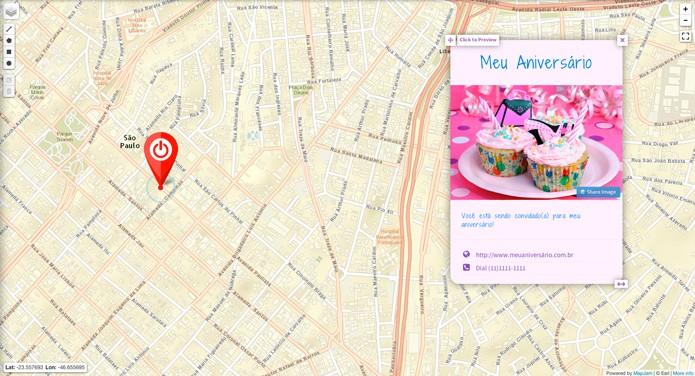 Mapa finalizado (Foto: Reprodução/André Sugai)