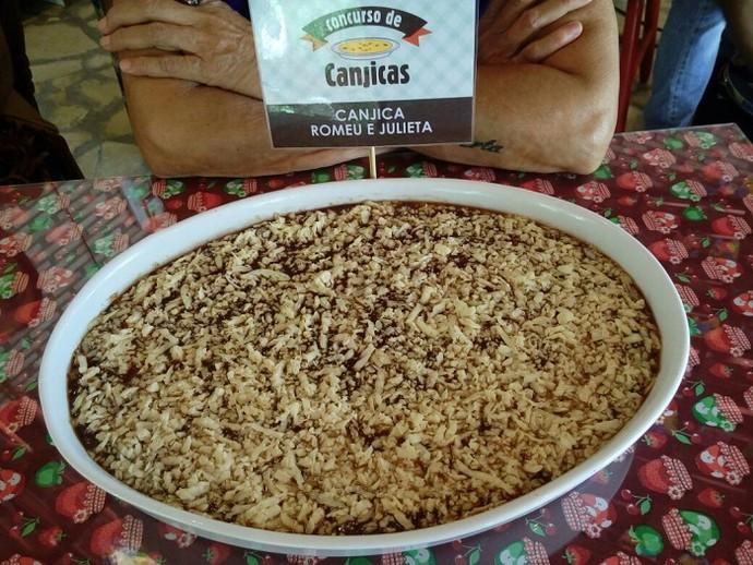 Canjica Romeu & Julieta, preparada pela estudante de gastronomia Neusa Meneses (Foto: Fernanda Pinheiro)