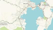 Mapa mostra condições do trânsito em Santa Catarina (Reprodução/G1)