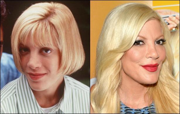Tori Spelling, a Donna Martin de 'Barrados no Baile' (1990–2000), está com 41 anos. Em 1996, tinha 23. (Foto: Getty Images)