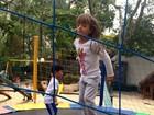Rafaella Justus tem sábado animado com brincadeira no parque