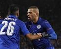Mahrez marca, Schmeichel faz milagre e Leicester segue 100% na Champions