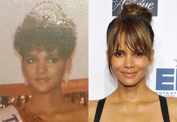 Halle Berry em 1985 e em 2016 (Foto: Reprodução e Getty Images)