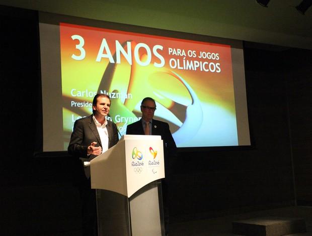 Eduardo Paes - 3 anos para olimpiadas (Foto: Beth Santos)