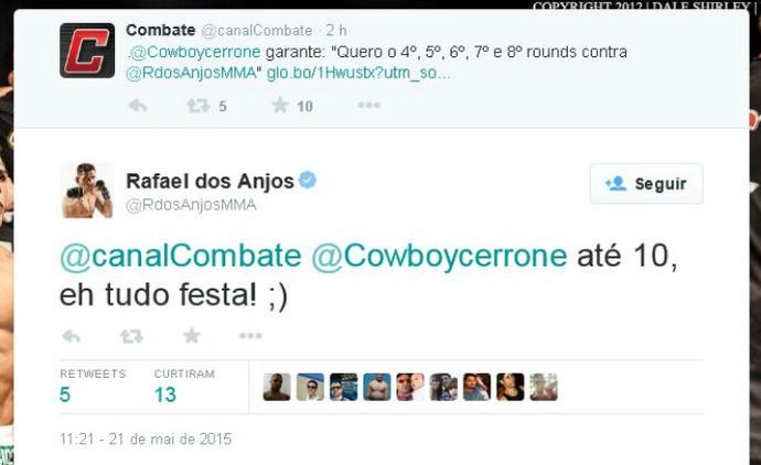 Rafael dos Anjos aprueba pedido de Cerrone por