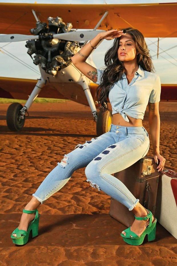Aline Riscado em fotos para a Biotipo Jeans (Foto: Eurico Freire/Divulgação)