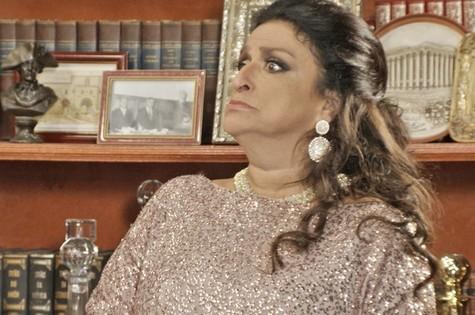 Grace Gianoukas, a Teodora de 'Haja coração' (Foto: TV Globo)