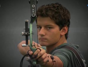 Marcus Vinicius D'Almeida, tiro com arco (Foto: Reprodução SporTV)