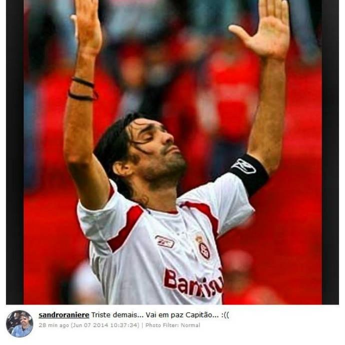 Sandro publica foto lembrando de Fernandão (Foto: Reprodução)
