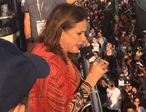 """""""É um dia de amor, representatividade, liberdade e de celebrar a diversidade"""", disse a cantora Fafá de Belém (Foto: Luís Lima )"""