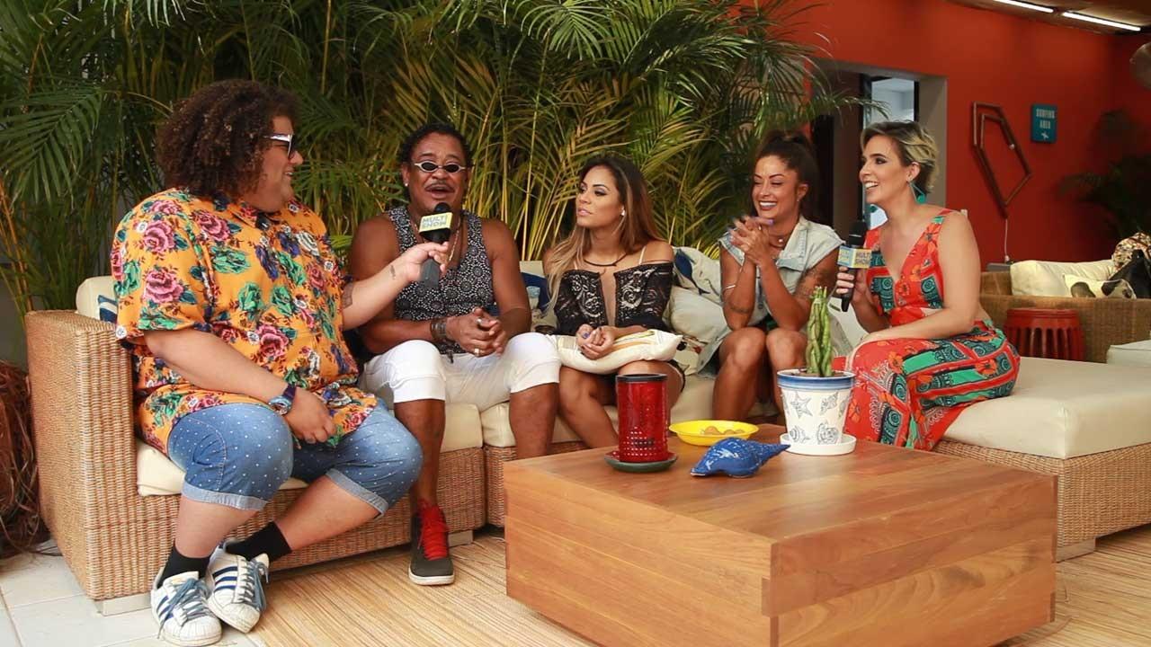 Aline Riscado, Compadre Washington, Gominho e Lexa contam histrias de veres passados na Casa TVZ Vero (Foto: Multishow)