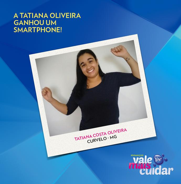 Tatiana ganhou um smartphone (Foto: Divulgação)