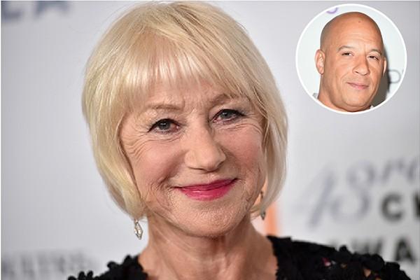Helen Mirren e Vin Diesel (Foto: Getty Images)