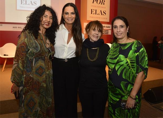Bianca Teixeira, Luiza Brunet, Sandra Werneck e Andréa Dantas (Foto: Fábio Cordeiro/Editora Globo)