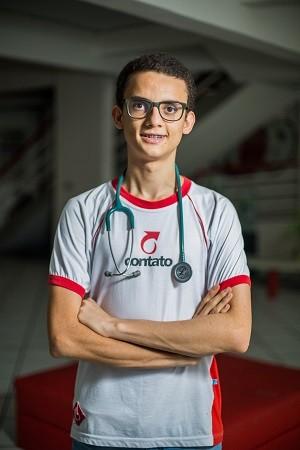 Alagoano Luís Felipe Chagas foi aprovado em quatro universidades para Medicina (Foto: Pedro Ivo Euzébio/Arquivo Pessoal)