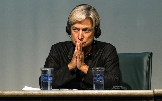 filósofa norte americana Judith Butler durante evento na UNIFESP (Foto: João Castellano/ÉPOCA)