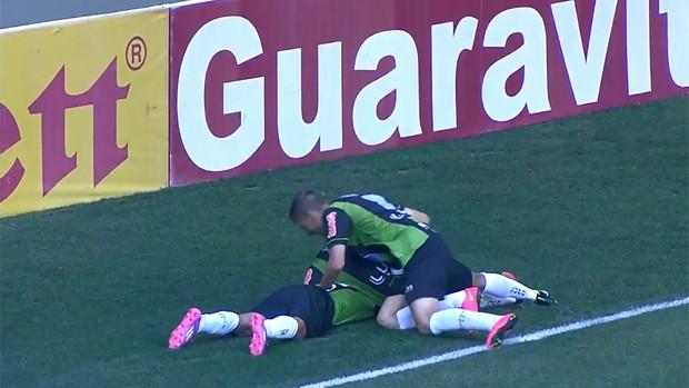 gol América-MG (Foto: Reprodução)